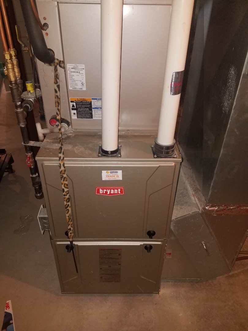 Rogers, MN - Furnace maintenance. Performed tune up and cleaning on a Bryant furnace.