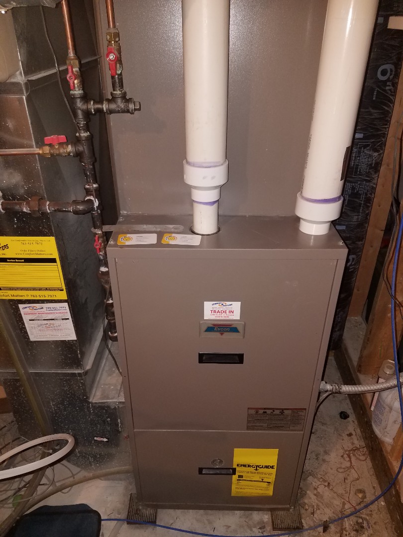 Albertville, MN - Furnace maintenance. Performed tune up and cleaning on a Evcon furnace