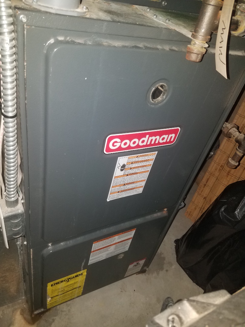 Albertville, MN - Furnace maintenance. Performed tune up and cleaning on a Goodman furnace.