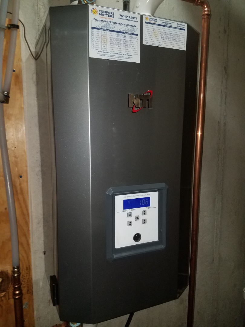 Buffalo, MN - Boiler maintenance. Diagnosed a faulty control board on an NTI boiler