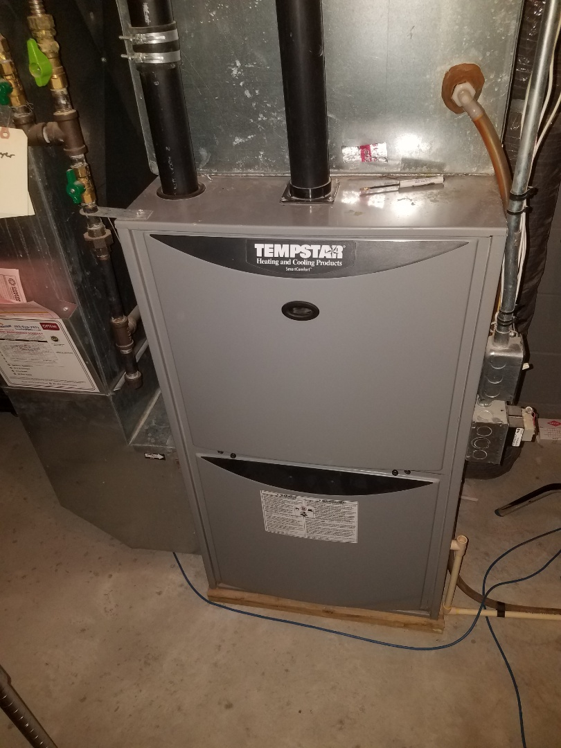 Otsego, MN - Furnace maintenance. Performed tune up and cleaning on a Tempstar furnace.