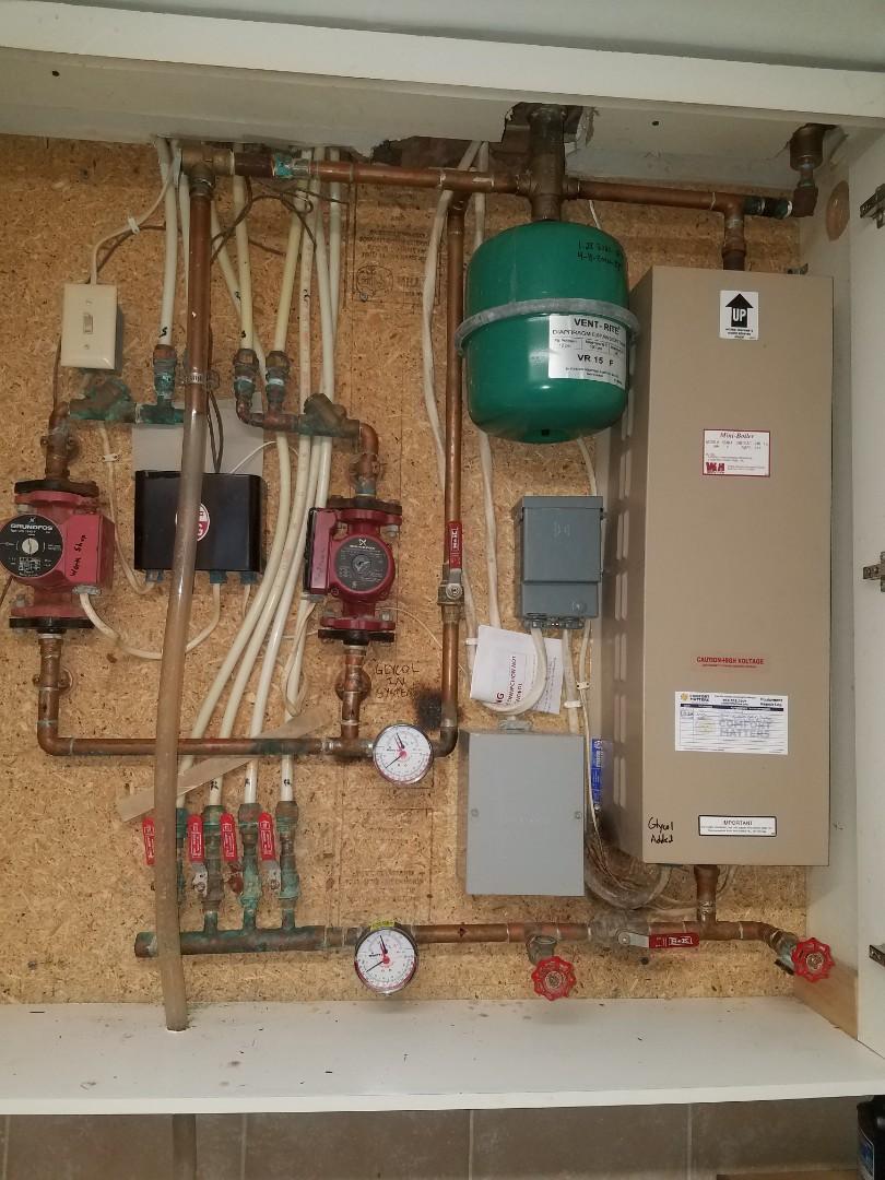 Plymouth, MN - Boiler maintenance. Diagnosed an Electro Industries mini boiler.