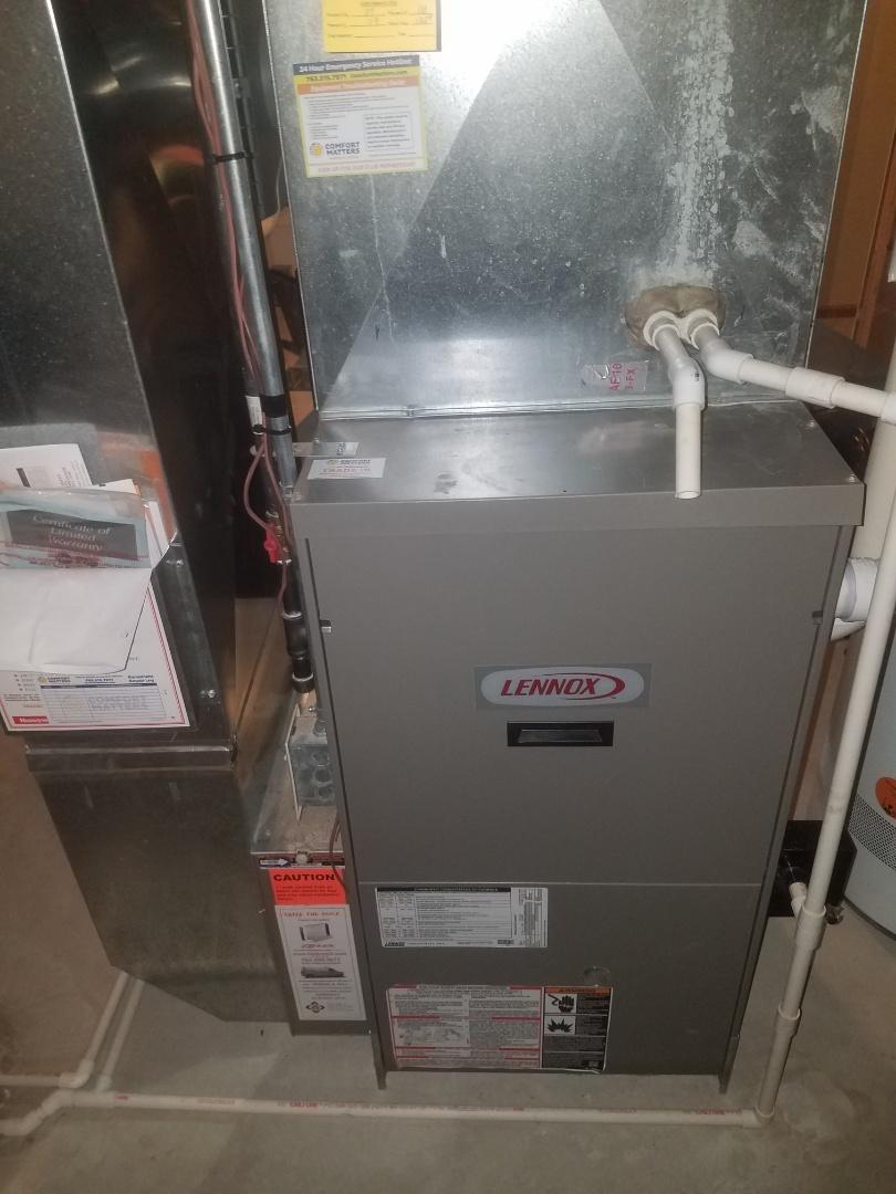 Plymouth, MN - Furnace maintenance. Diagnosed a Lennox furnace.
