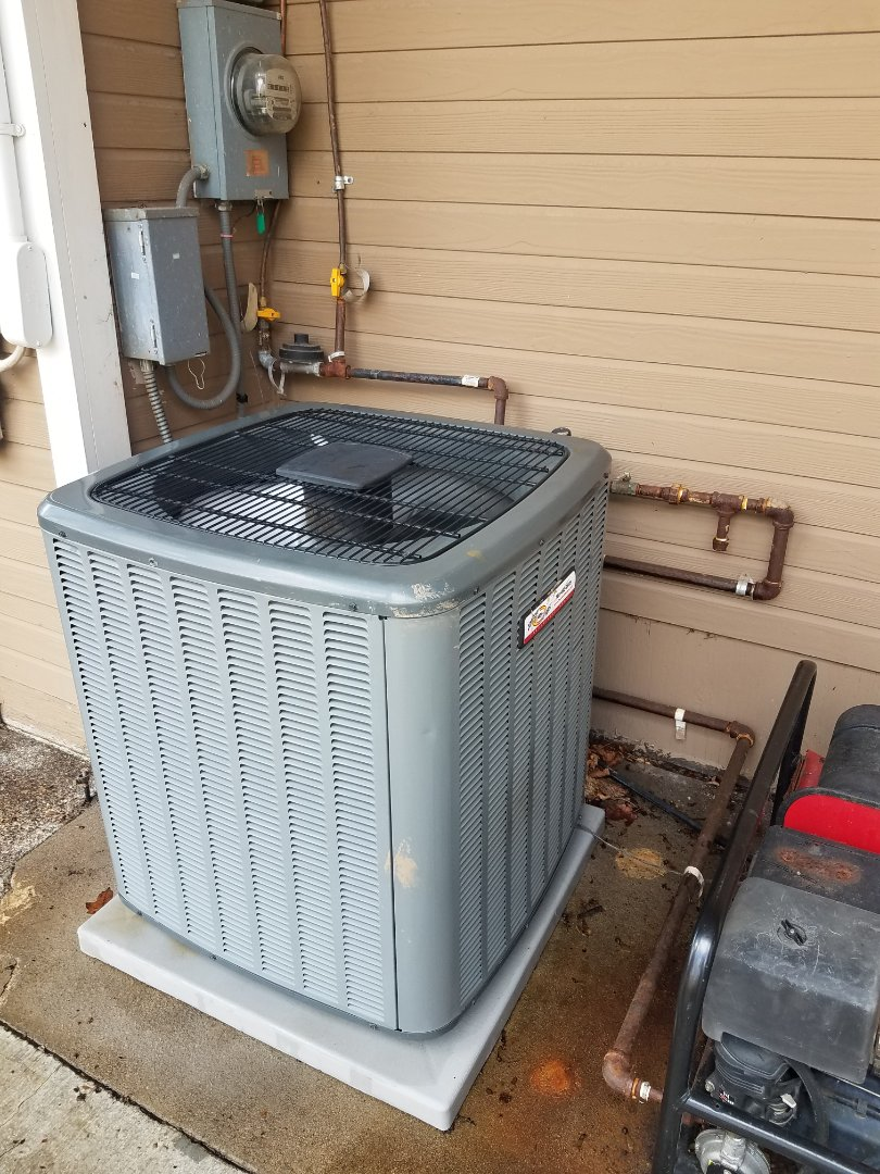 Long Lake, MN - AC maintenance. Performed tune up and cleaning on a Comfort Matters AC. Installed drain pan treatment and a AC motor starter.
