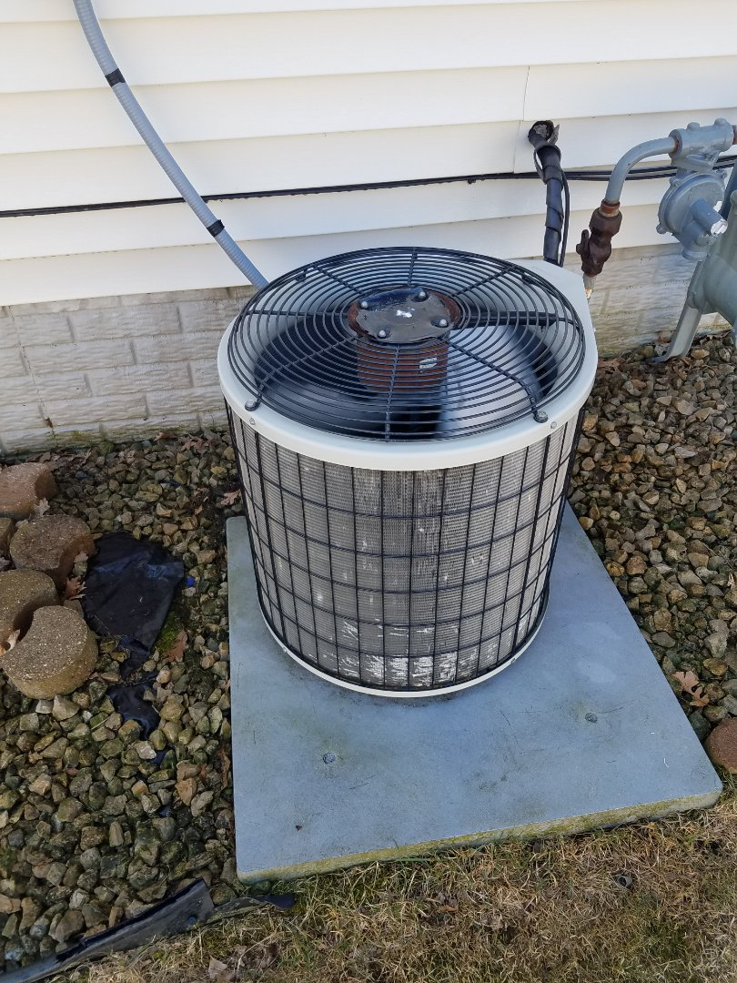 Elk River, MN - AC maintenance. Performed cleaning and tune up on a Payne air conditioner.