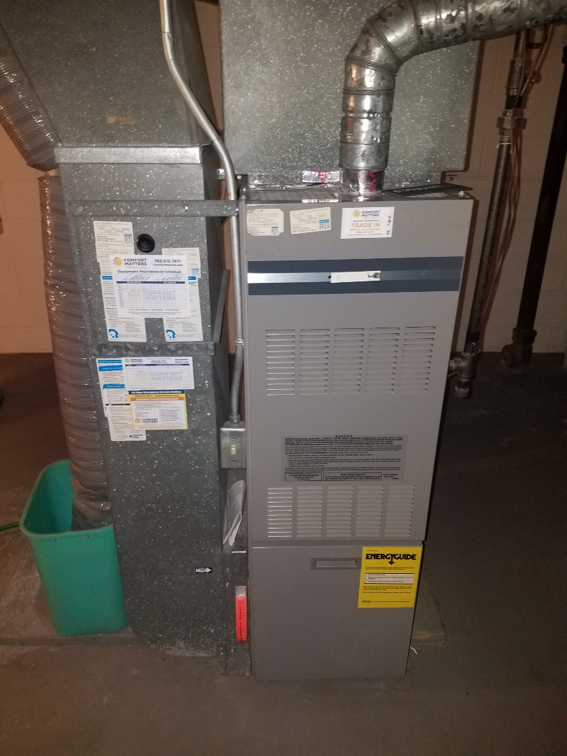 Fridley, MN - Heating maintenance. diagnosed a Tempstar furnace.