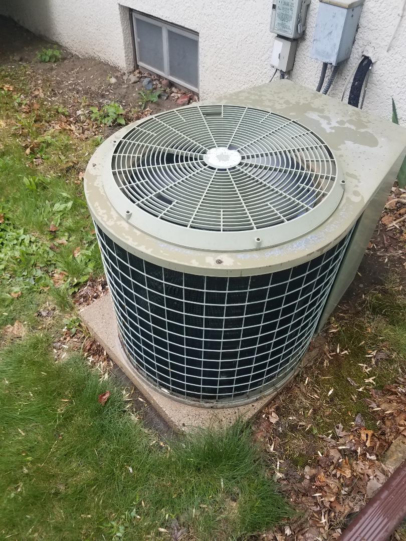 Fridley, MN - Cooling maintenance. Performed tune up and cleaning on a Tempstar AC.