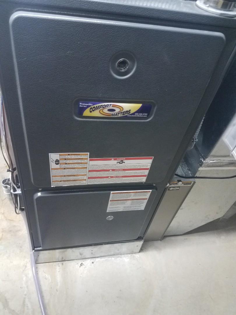 Ramsey, MN - Furnace maintenance. Diagnosed a Comfort Matters furnace.