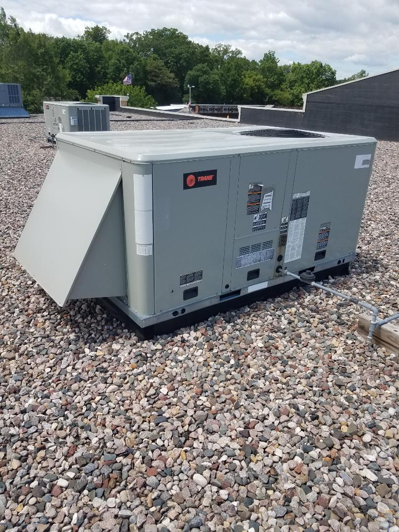 Hanover, MN - RTU maintenance. Diagnosed a failed thermostat on a Trane RTU. Installed a new thermostat