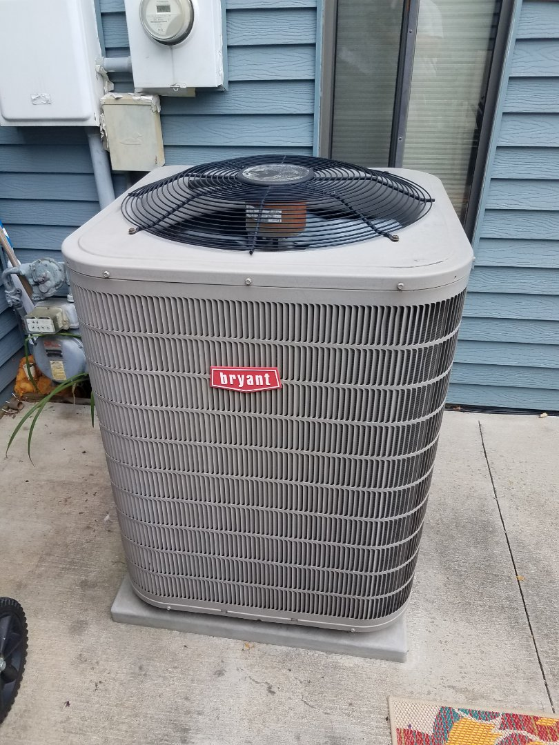 Maple Grove, MN - Cooling maintenance. Replaced a failed AC motor starter on a Bryant air conditioner.