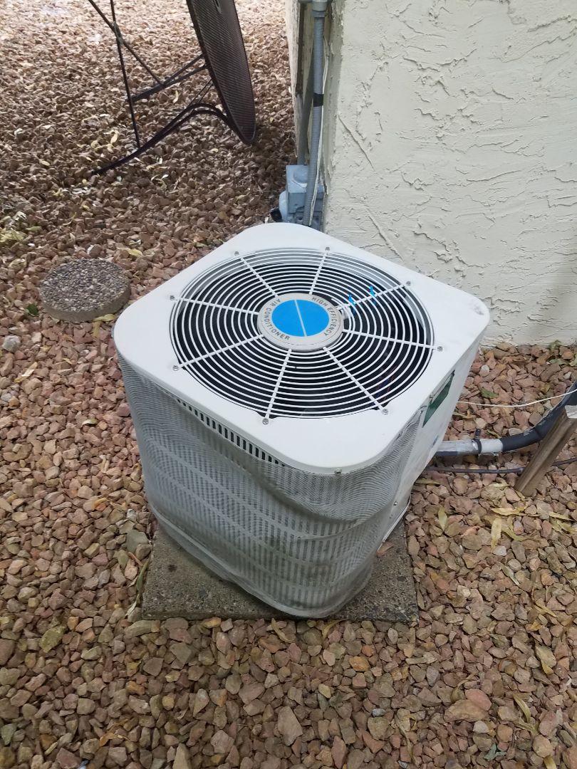 Dayton, MN - AC maintenance. Adjusted the blower wheel on a tecumish AC.
