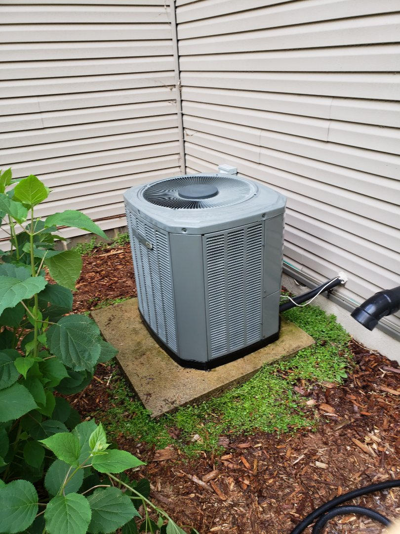 Elk River, MN - AC maintenance. Performed a cleaning and tune up on a Trane air conditioner. Also installed an Arzel zone damper.
