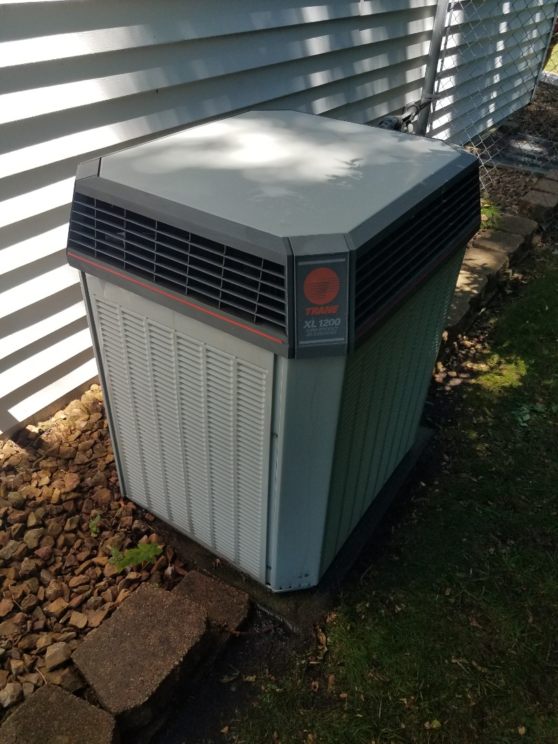 Champlin, MN - Cooling maintenance. Performed cleaning and tune up on a Trane air conditioner.