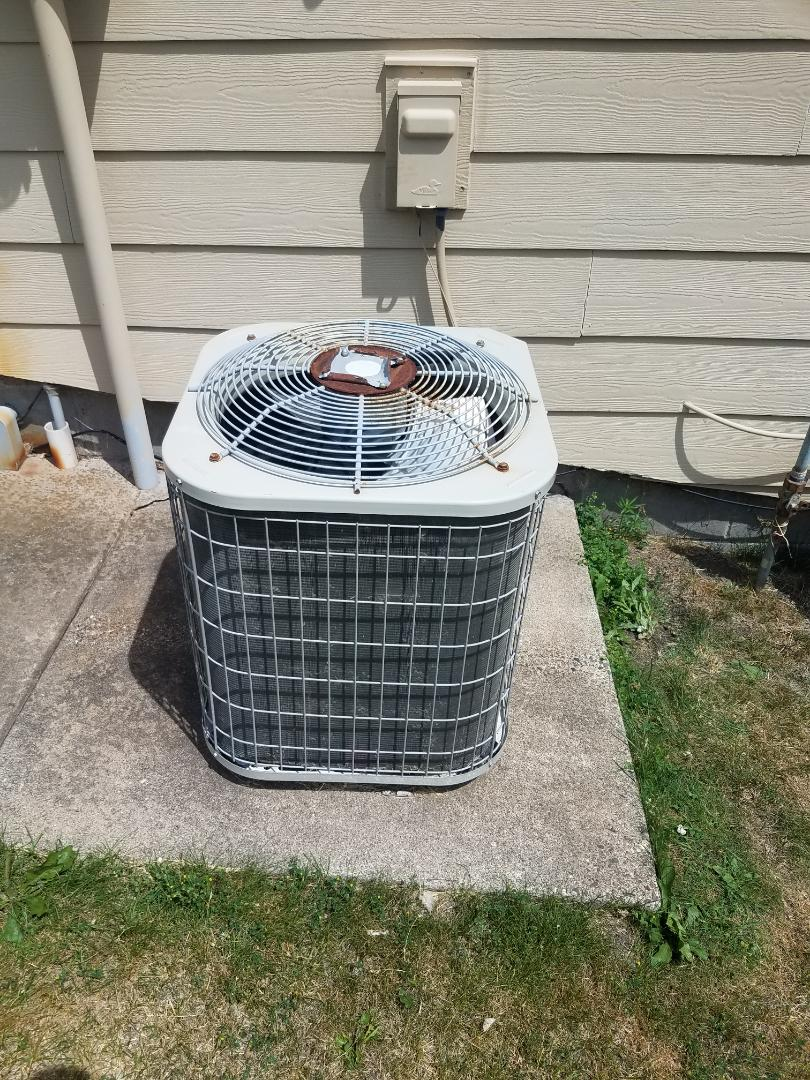 Dayton, MN - AC maintenance. Installed a new AC motor booster on a Payne AC.