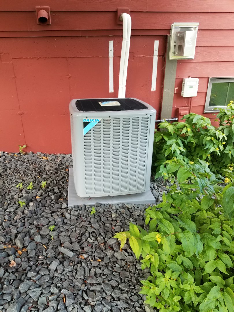 Loretto, MN - AC maintenance. Diagnosed a Daikin AC.