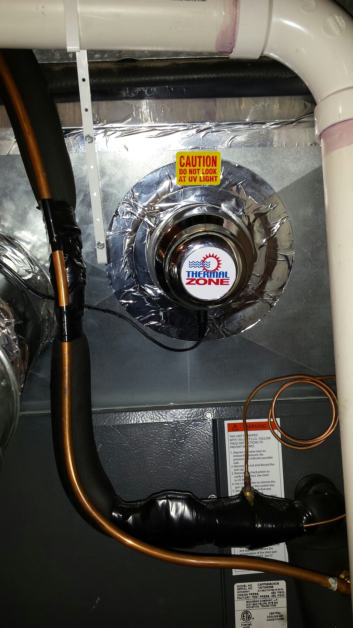 Furnace Air Conditioning Repair In Rockford Mn Have A Trane Xv90 With Ac Trying To Install Honeywell Uv Light Installation