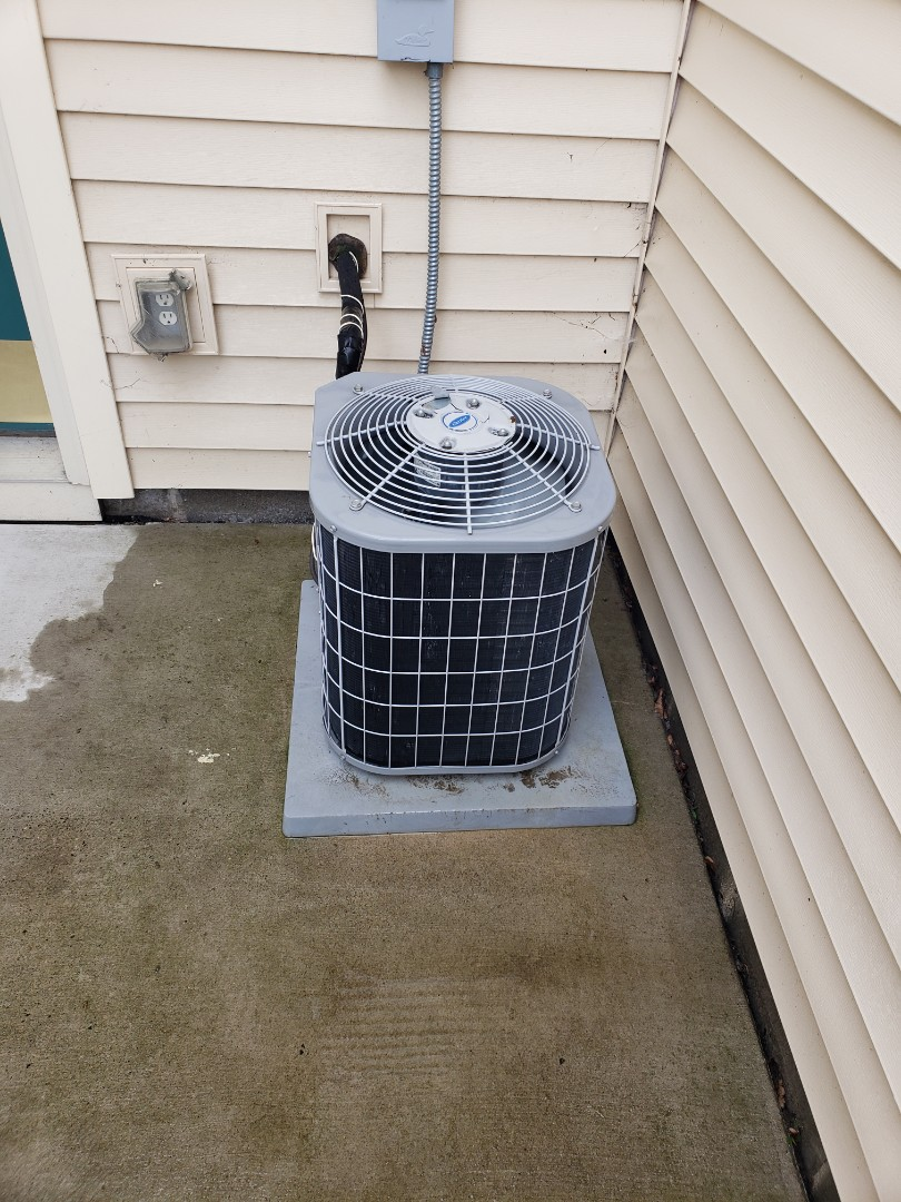 Albertville, MN - AC maintenance. Performed cleaning and tune up on a Carrier AC.