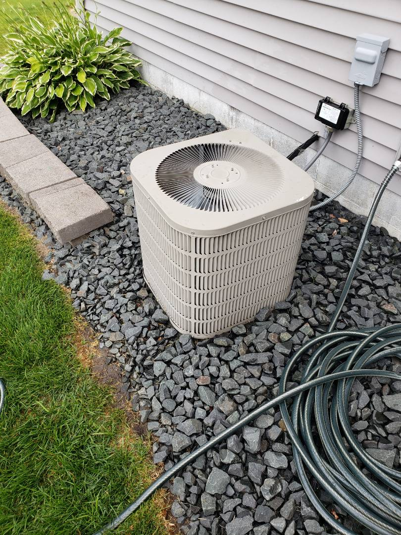 Saint Michael, MN - AC maintenance. Performed cleaning and tune up on a Goodman AC.