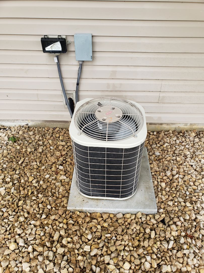 Rockford, MN - Cooling maintenance. Performed tune up and cleaning on a Carrier air conditioner