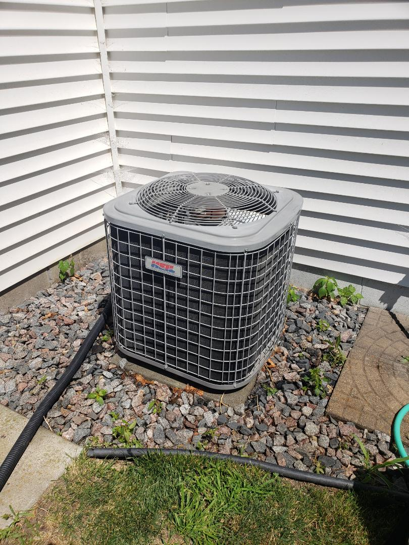 Saint Michael, MN - Cooling maintenance. Performed a cleaning and tune up on a Heil air conditioner. Installed a new AC motor booster