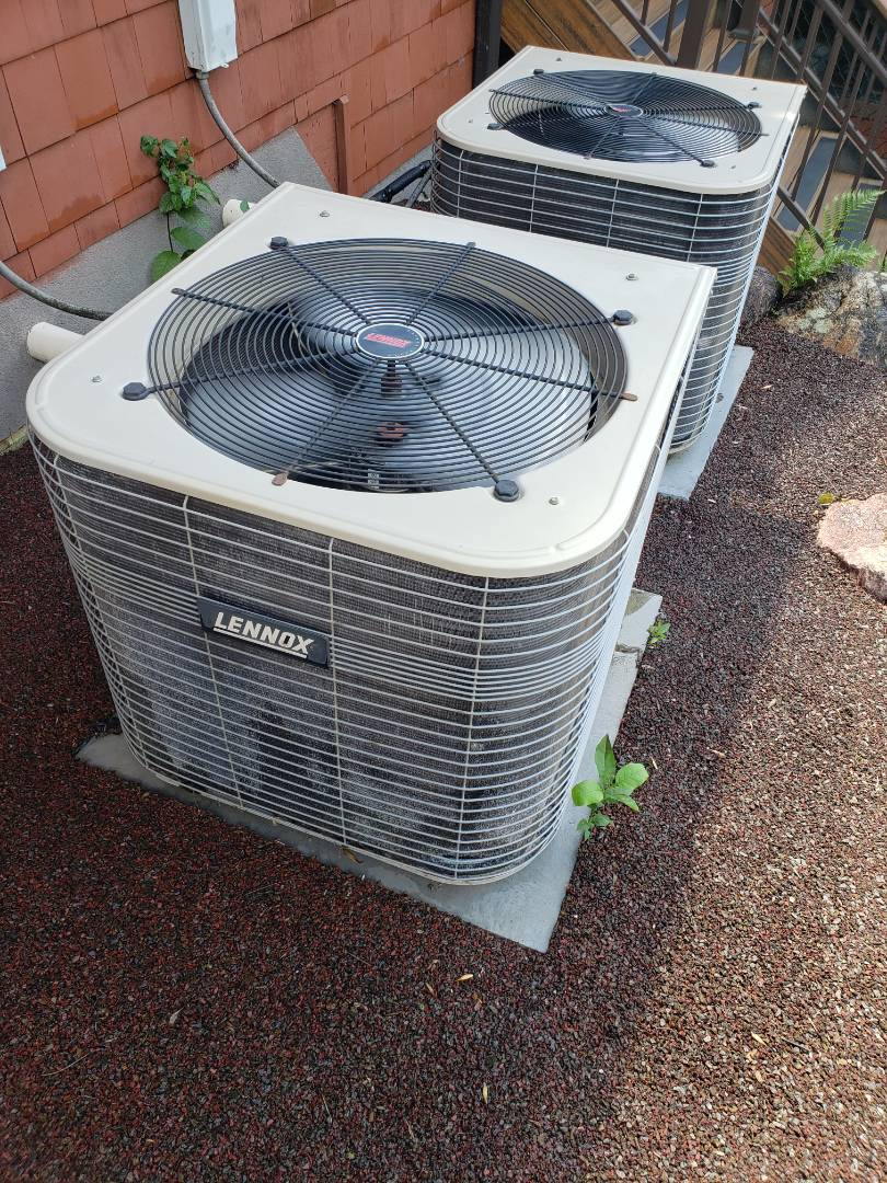 Long Lake, MN - Cooling maintenance. Repaired a burnt wire and performed a tune up and cleaning on a Lennox AC.
