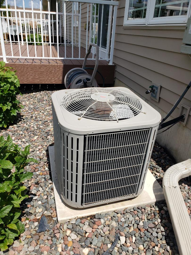 Otsego, MN - AC maintenance. Performed cleaning and tune up on a Bryant AC.