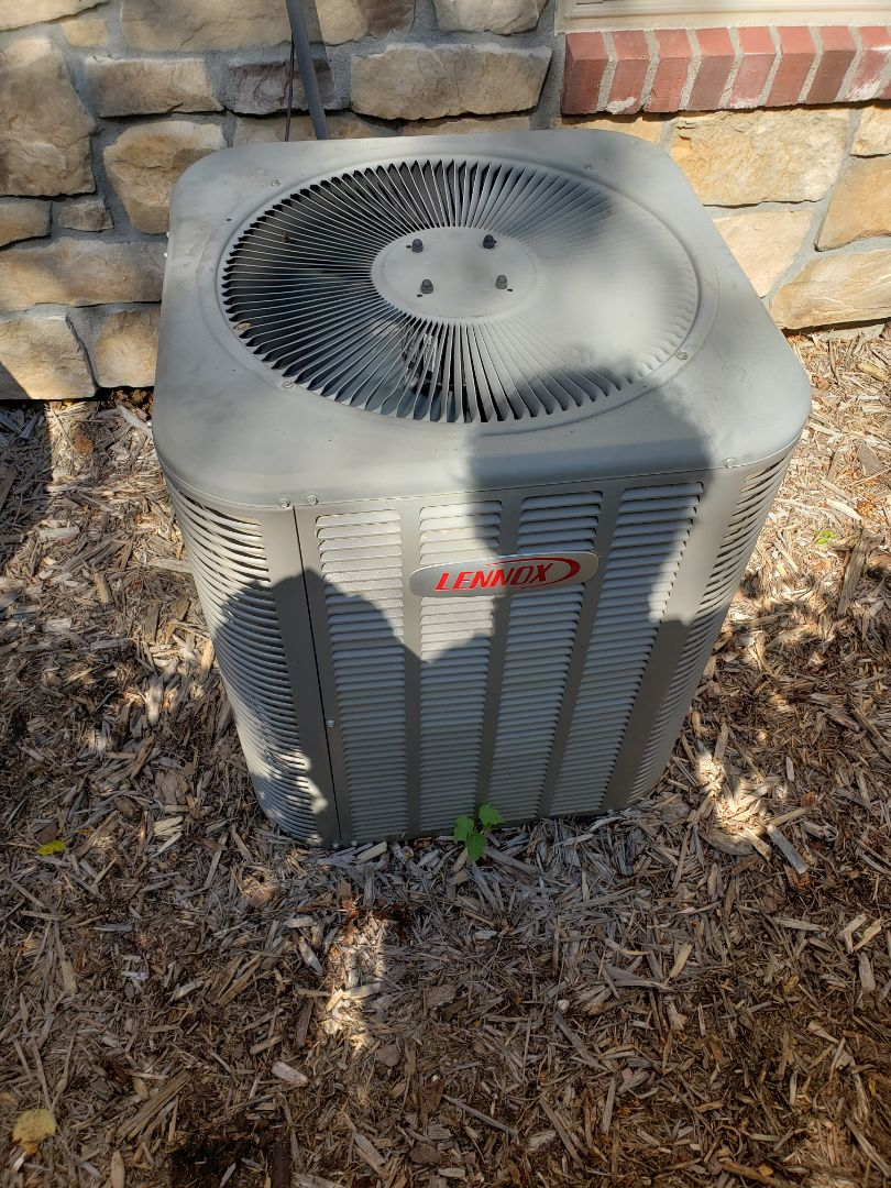 Rogers, MN - Cooling maintenance. Installed a new AC motor booster on a Lennox air conditioner.