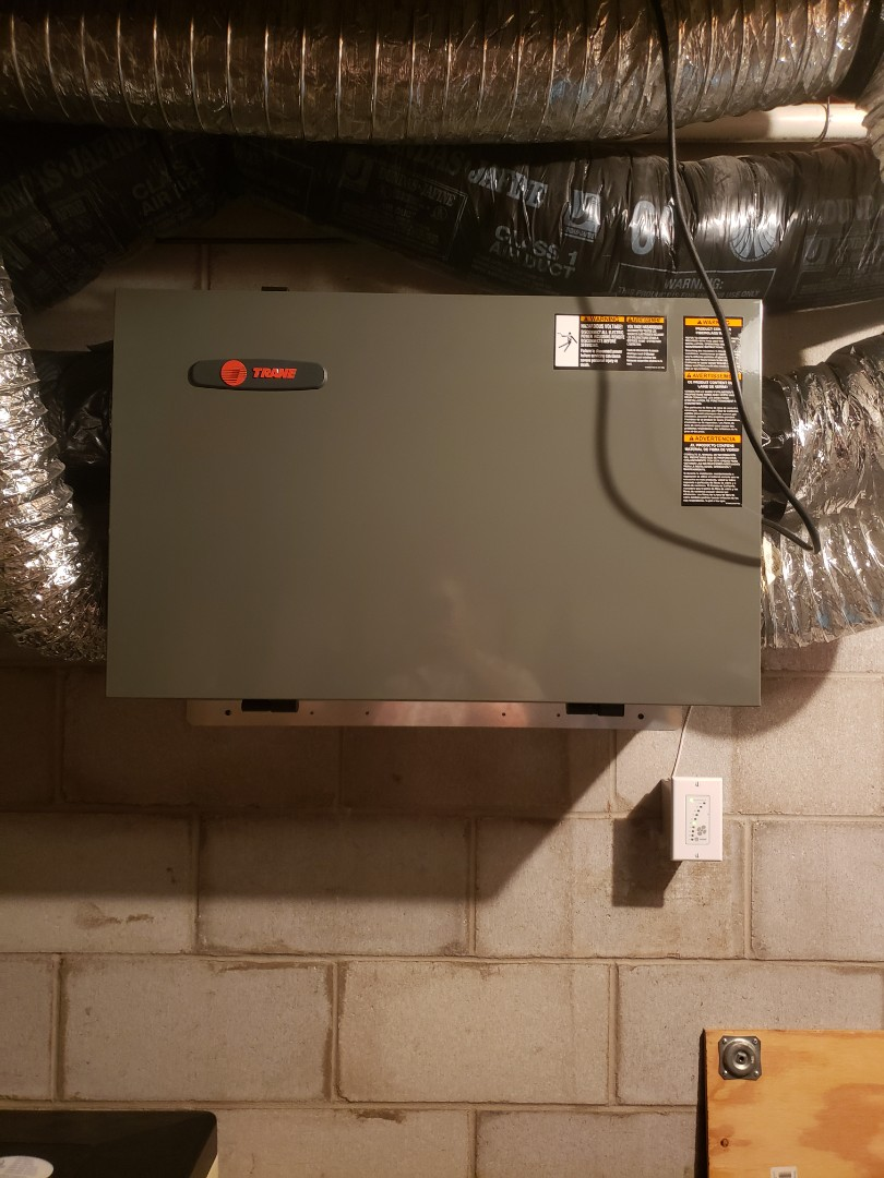 Plymouth, MN - Air exchanger maintenance. Performed tune up and cleaning on a Trane air exchanger
