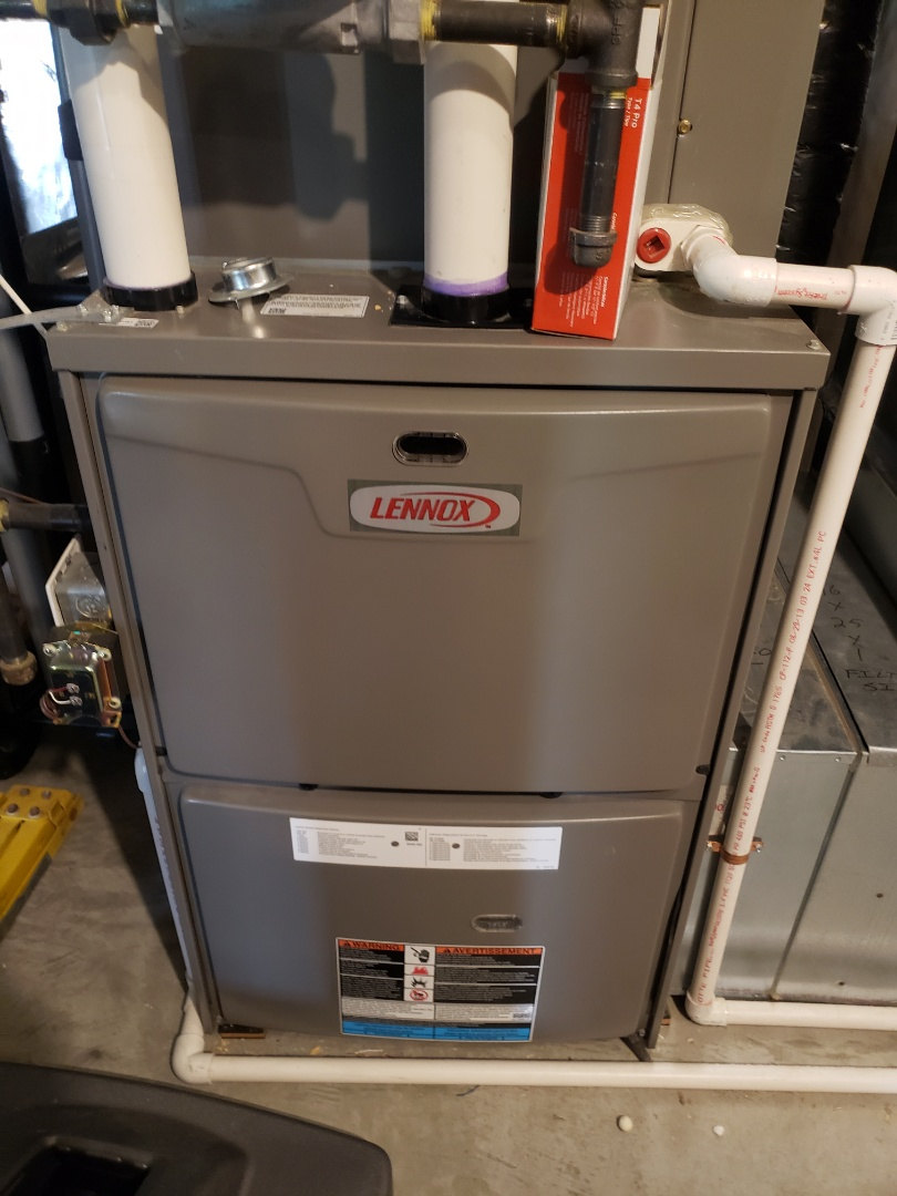 Osseo, MN - Furnace maintenance. Performed tune up and cleaning on a Lennox furnace.