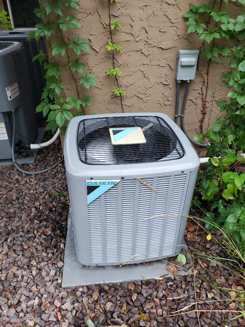 Hanover, MN - AC maintenance. Installed a new low ambient control on a Daikin AC