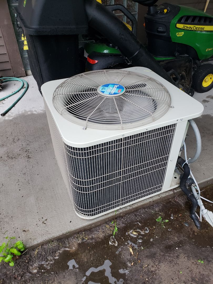 Wayzata, MN - Cooling maintenance. Performed cleaning and tune up on a Bryant air conditioner.