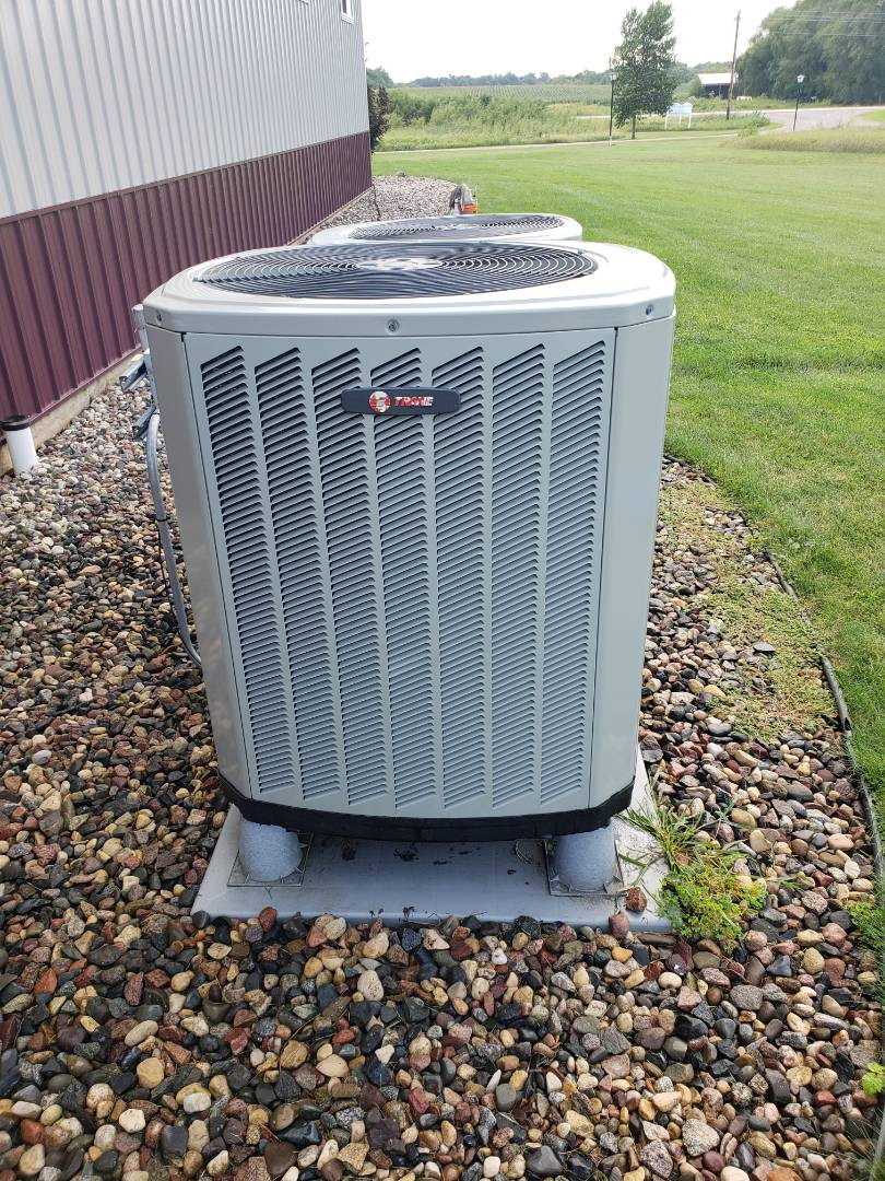 Buffalo, MN - Cooling maintenance. Performed cleaning and tune up on a Trane air conditioner.