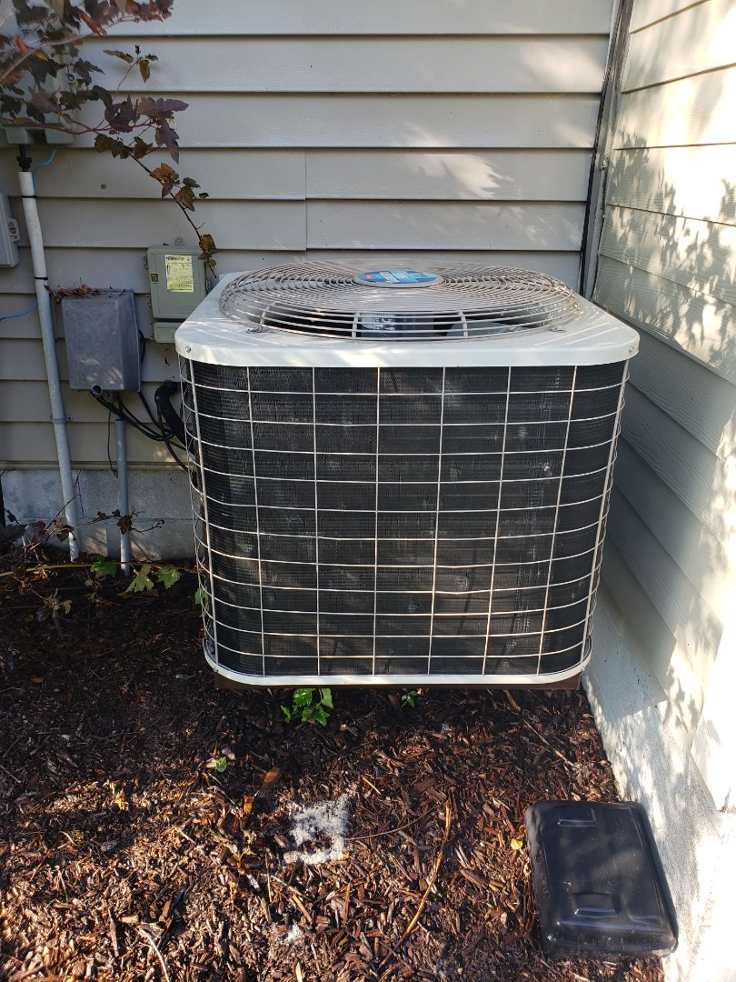 Osseo, MN - Cooling maintenance. Performed cleaning and tune up on a Bryant air conditioner. Installed new AC motor booster, synthetic oil treatment and UV leak sealant.