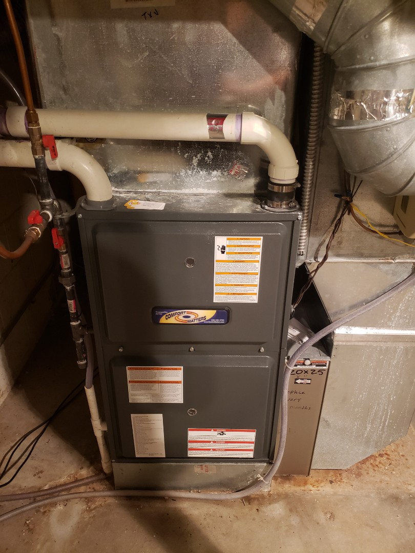 Maple Plain, MN - Heating maintenance. Performed cleaning and tune up on a Comfort Matters furnace.