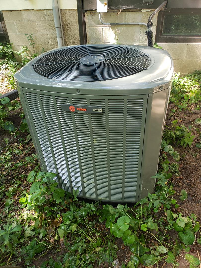 Elk River, MN - Cooling maintenance. Performed cleaning and tune up on a Trane air conditioner.