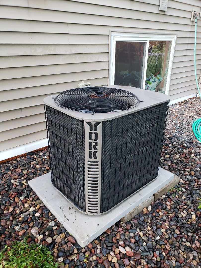 Hanover, MN - AC maintenance. Performed tune up and cleaning on a York AC.