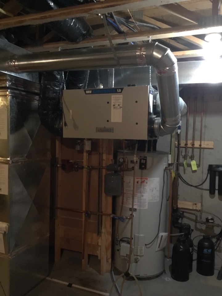 Blaine, MN - Service call for air exchanger. Diagnosed failed motor and broken damper.