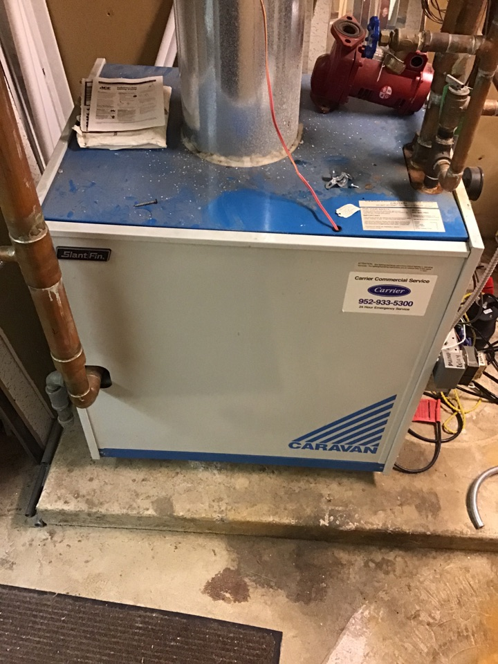 Rockford, MN - I diagnosed a leaking water valve on a Slant Fin boiler