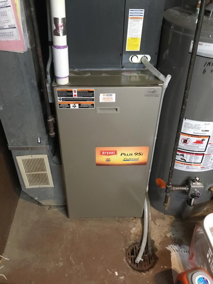 Elk River, MN - Furnace tune up. Performed maintenance Bryant furnace.