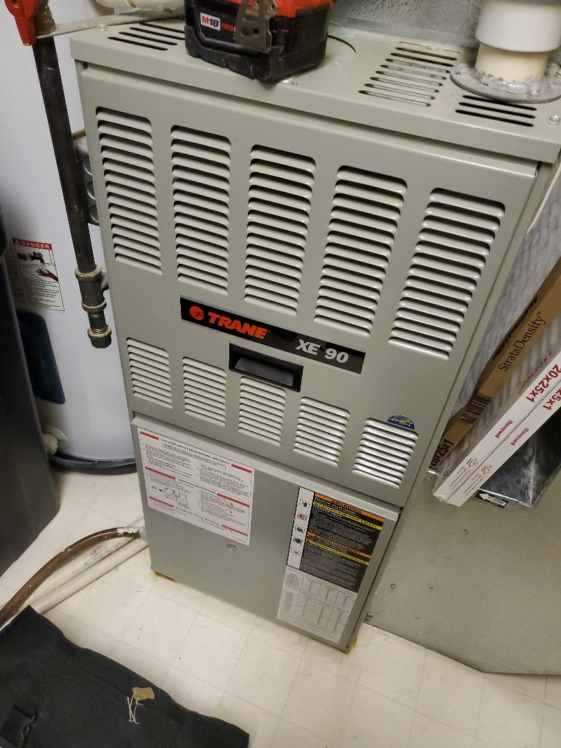 Minnetonka, MN - Tune up and cleaning on a trane furnace
