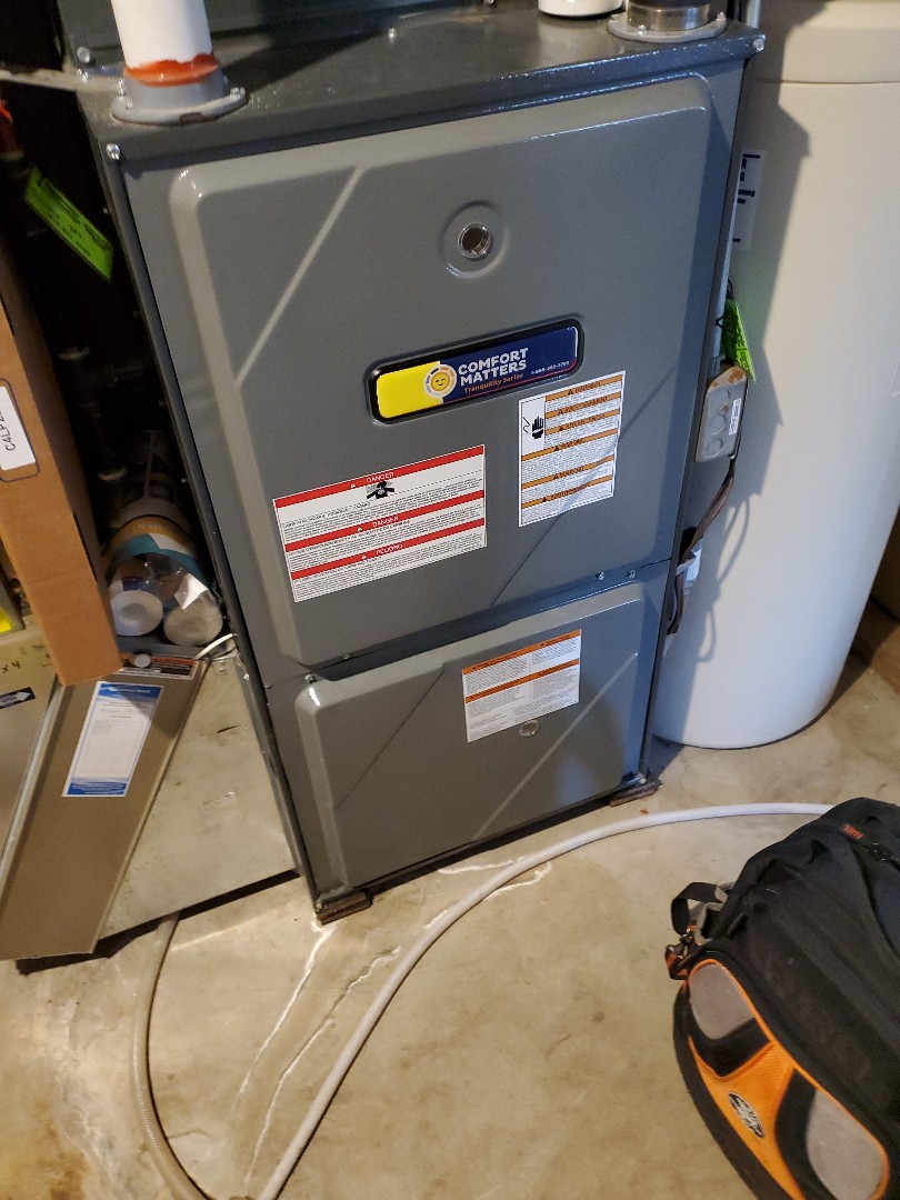 Long Lake, MN - Tune up and cleaning on an Amana furnace