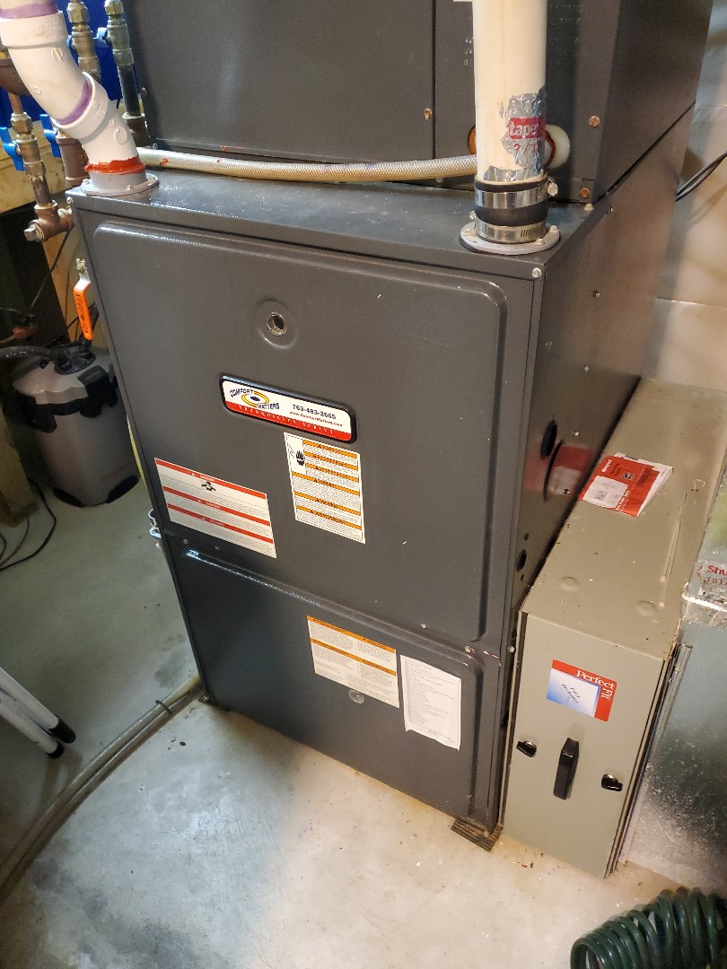 Dayton, MN - Tune up and cleaning on a comfort matters Amana furnace