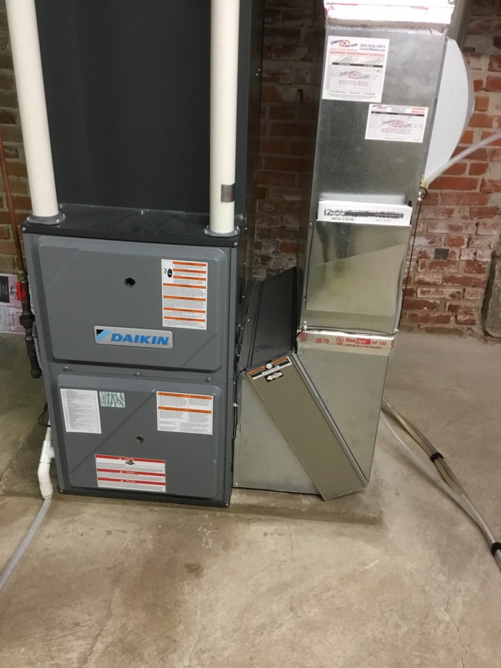 Loretto, MN - Furnace tune up. HVAC system is ready for the winter!