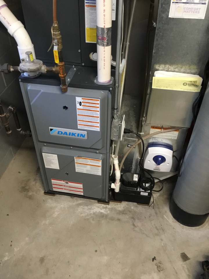Monticello, MN - Furnace tune up. Performed maintenance on Daikin furnace and installed surge protector.