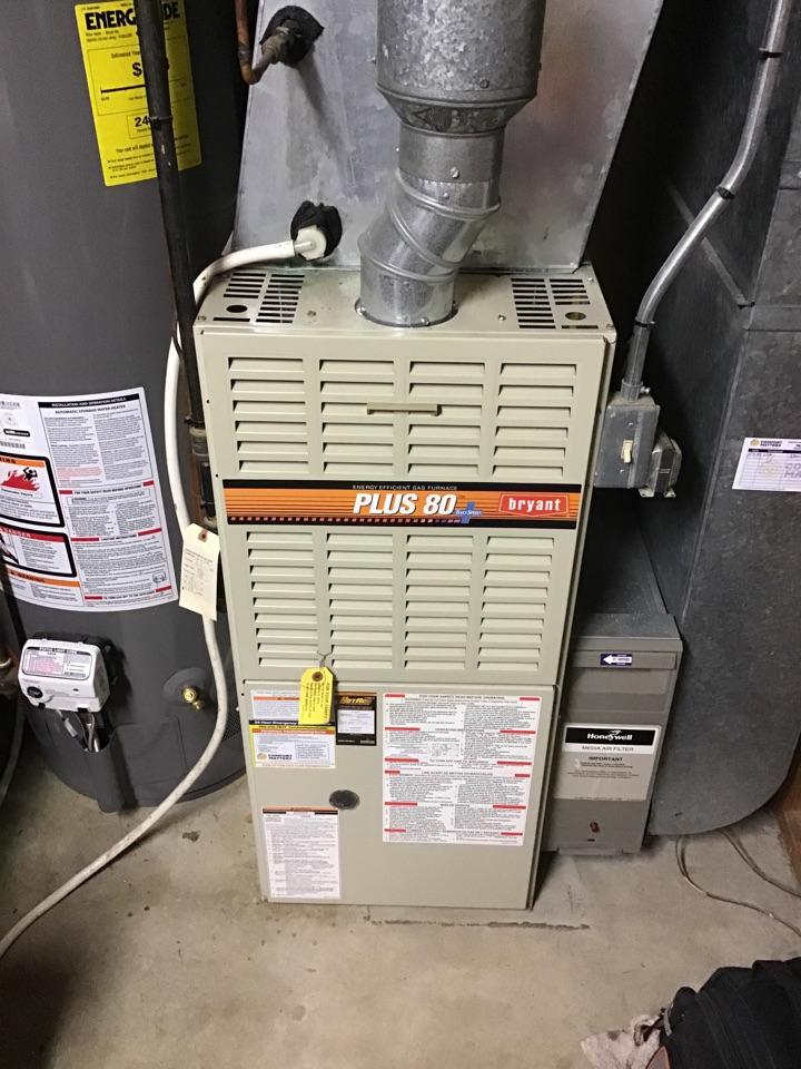 Brooklyn Park, MN - I diagnosed a failed igniter on a Bryant furnace