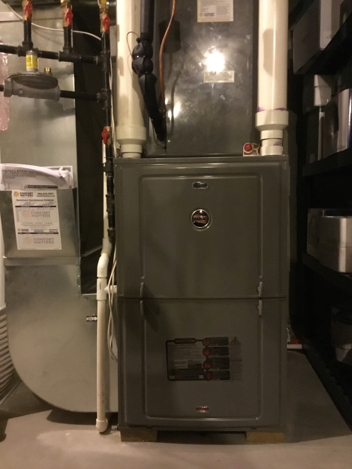 Otsego, MN - Furnace tune up. Entire HVAC system is in great shape for the winter!