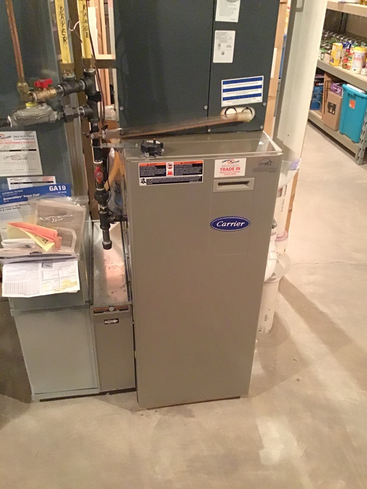 Otsego, MN - I performed a precision tuneup on a high efficient Carrier furnace