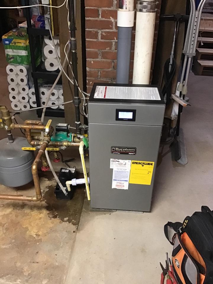 Hanover, MN - I diagnosed a failed condensate pump on a Burnham boiler