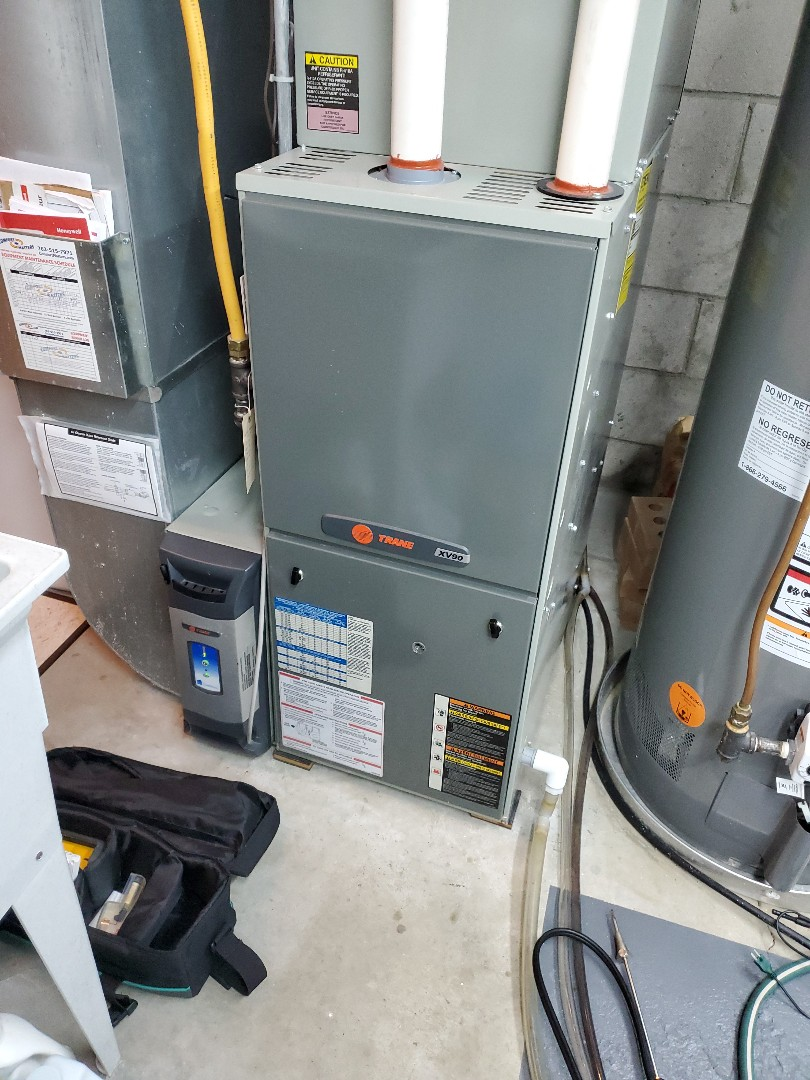 Champlin, MN - Tune up and cleaning on a trane furnace