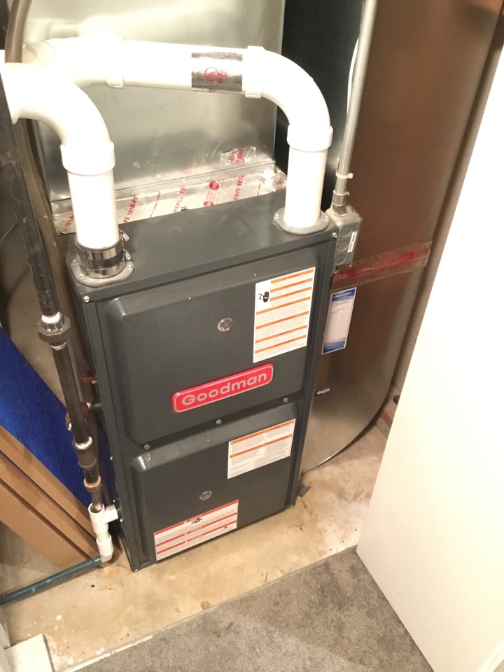 Ramsey, MN - Furnace tune up. Performed maintenance on Goodman furnace.